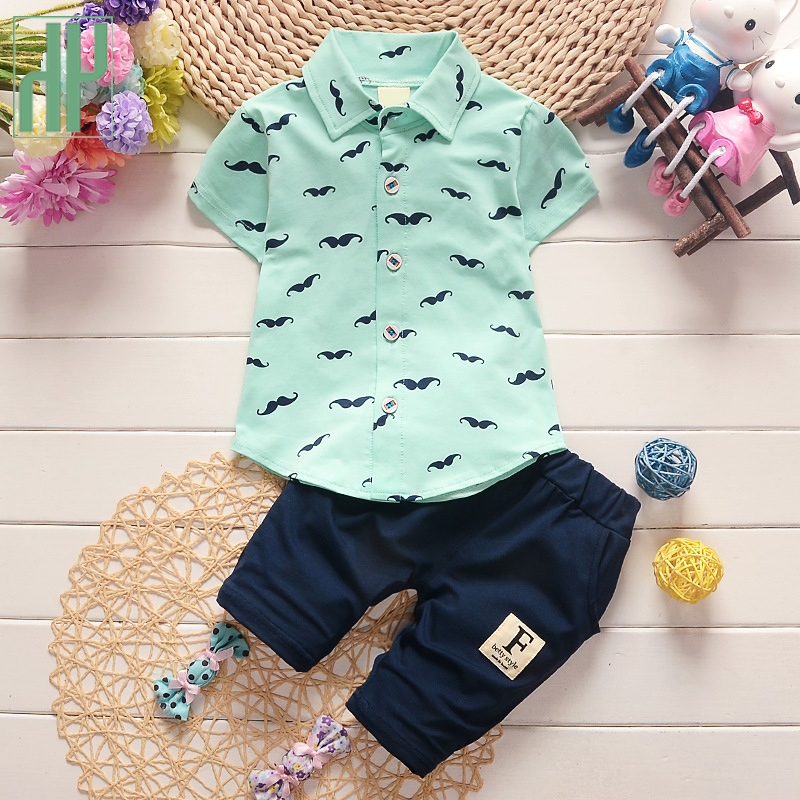 Children's clothes baby boys summer clothing sets kid clothing boys 2017 casual Short Sleeve T-shirt+Shorts 2pcs Outfit Suit