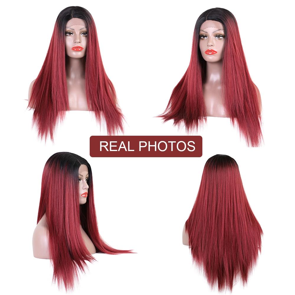 Στοιχείο 26 ιντσών μακριές ευθείες - Συνθετικά μαλλιά - Φωτογραφία 2