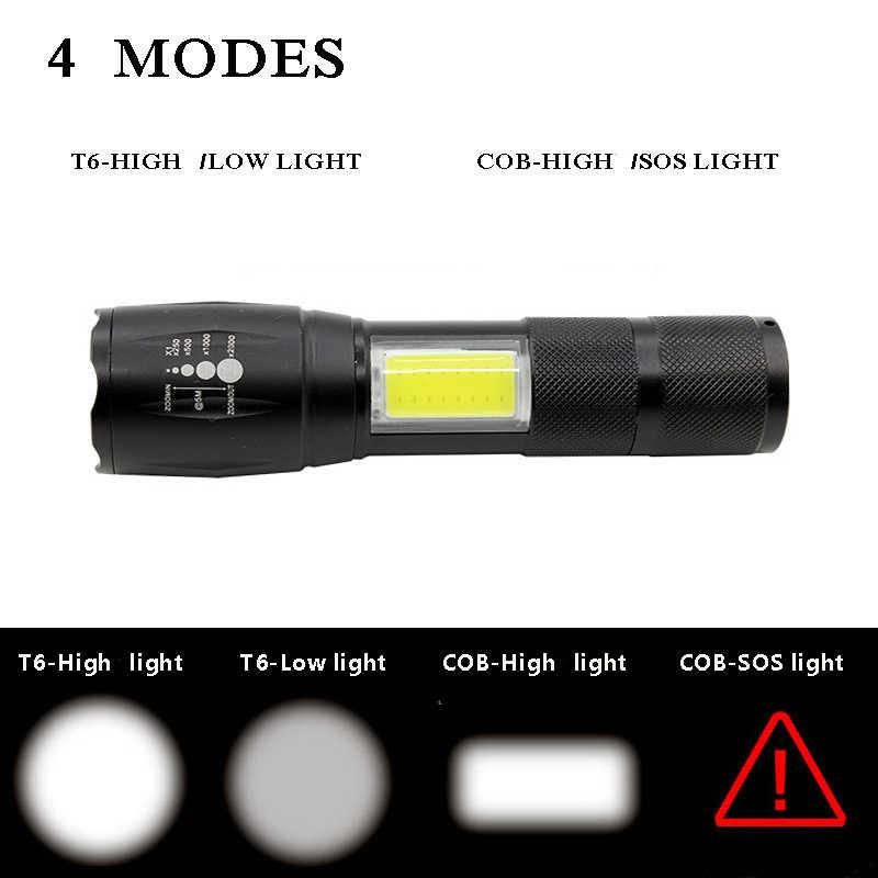 Мощный фонарик 3800 люмен 4-режимы T6 и удара Q5 и удара светодио дный Flash Light Масштабируемые напольный светильник Тактический Водонепроницаемый Torch light