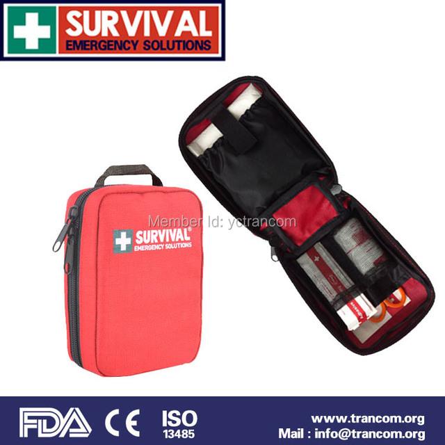 Protable viajante Esporte kit de primeiros socorros Kit de Primeiros Socorros de sobrevivência kit de primeiros socorros (CE/FDA aprovado) TR101.