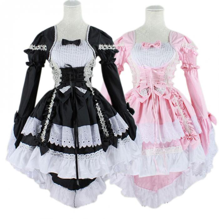 Hot Sale Anime Fantasy Maid Cosplay Costume Lolita Dress Halloween Performance For Women Disfraces
