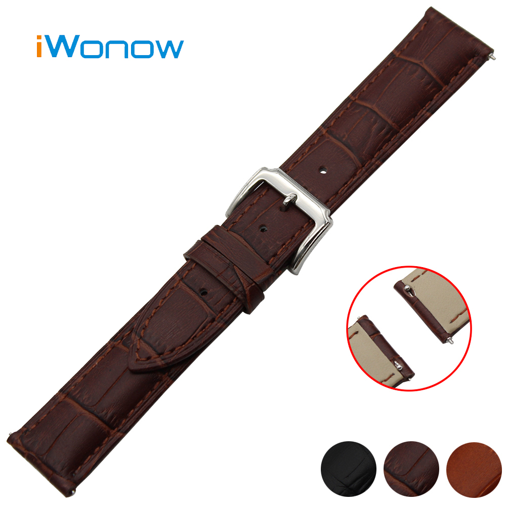 Genuine Leather Watch Band 18mm 20mm 22mm Universal Watchband Pin Buckle Strap Quick Release Wrist Belt Bracelet Black Brown glass adjustable swing long arm wall light vintage wall lamp retro edison industrial wall sconce arandela aplique murale led
