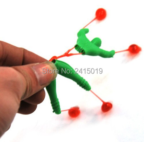 Free ship 100pc Crawler man toy funny sticky climbing roll spiderman pinata toy loot party fillers sticky toy kid party favor