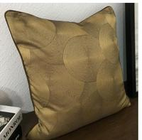 CD pattern bag modern minimalist new Chinese classical sofa pillowcase bed cover cushion cover bronze gold coffee color texture