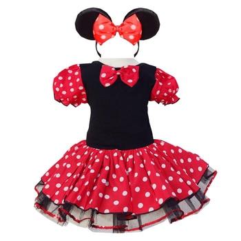 Vestido de niñas Minnie Mouse Dot tutú desfile de tul diseño único niños ropa traje de fiesta fantasía Cosplay Vestidos con tutú para bebés Vestidos