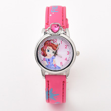 Reloj Infantil female student Kids watches Sexy Princess Dia