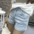 2017 женская мода джинсовые шорты 3 цвета вскользь высокая талия регулярный короткие джинсы шорты женщин 006