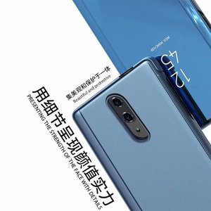 Image 3 - Oneplus 7 pro case Smart Mirror Flip case for One plus 6t 7 Protective Cover on One Plus 7 clear view stand case for One Plus 6t