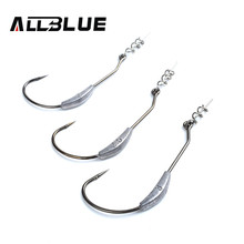 ALLBLUE Barbed Fishing Hooks With Lead Single Hook 2# 2.5# 3# 10pcs/lot Fishing Tackle