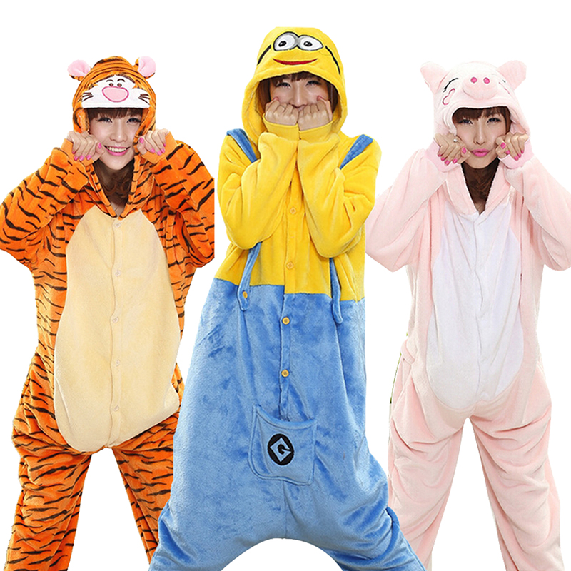 Kigurumi Tiger Onesie Slippers Women Men Adult Animal Cartoon Brown Pajama Funny Festival Party Fancy Suit Zipper Button Overall