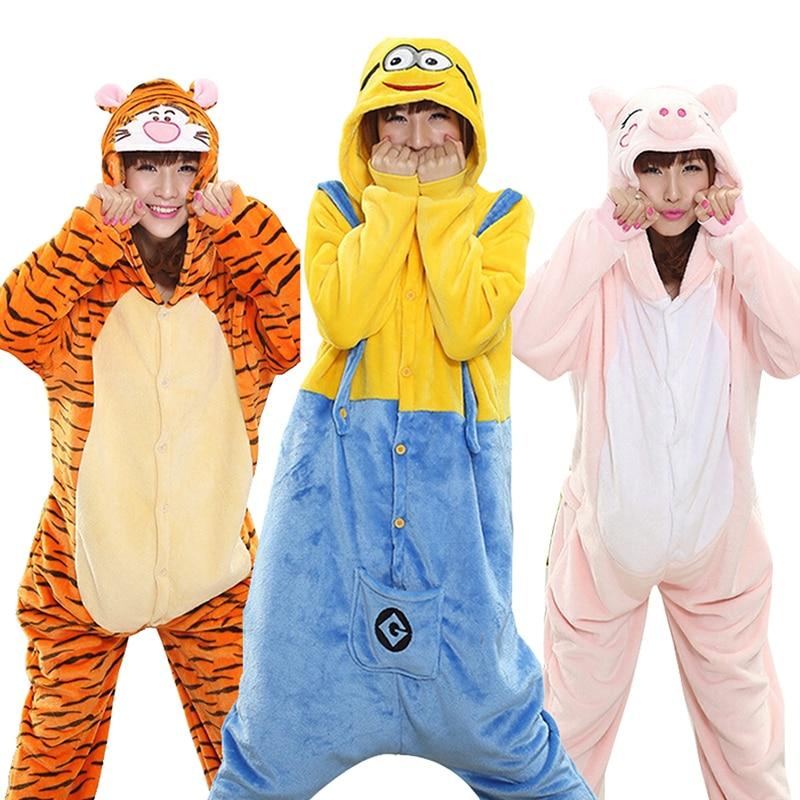 Kigurumi Tiger Onesie Slippers Women Men Adult Animal Cartoon Brown Pajama Funny Festival Party Fancy Suit Zipper Button Overall