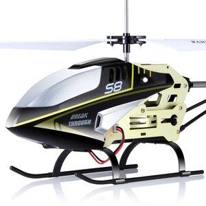 Image 4 - Syma s8 rc 헬리콥터 자이로 원격 제어 헬리콥터 항공기 산산조각 방지 깜박이 가벼운 합금 완구 어린이 선물 용품