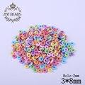 Moda colorida del agujero recto Beads disco redondo 350 unids/lote venta al por mayor de acrílico del espaciador plana del grano para joyería de DIY que hace