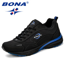 BONA 2018 New Running Shoes Men Breathable Zapatillas Hombre Outdoor Sport Sneakers Lightweigh Walking Shoes Jogging Shoes Man rax 2018 new arrival men running shoes for women breathable walking sneakers outdoor sport shoes men athletic zapatillas hombre