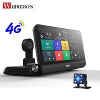 4G 8.0 Car DVR Camera Andriod GPS Navigation Full HD 1080P WIFI Video Recorder Dash cam Registrar Parking Monitoring Dual Lens