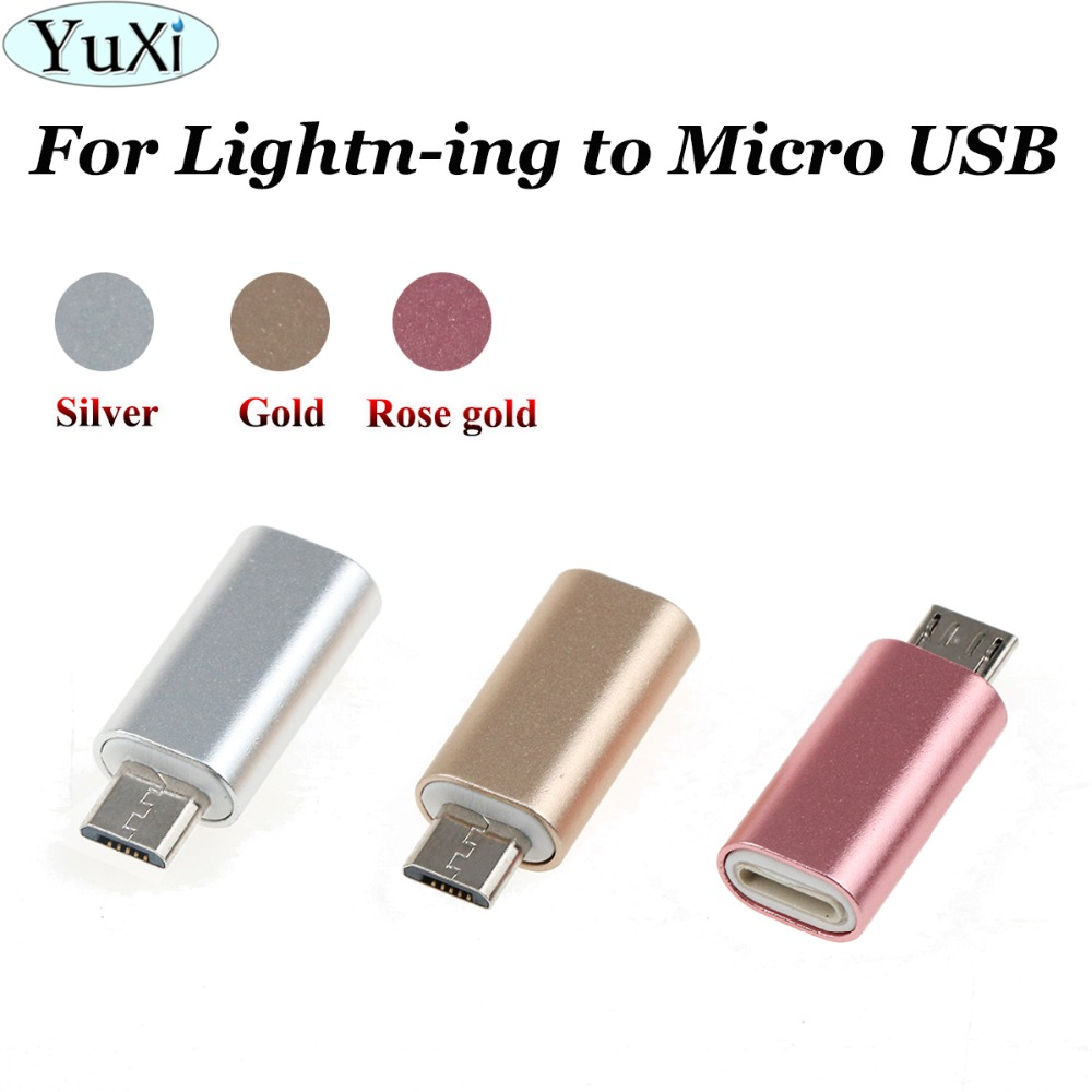 YuXi 8Pin For Iphone For Iphone Female To Micro USB Male Adaptor Converter For Samsung Galaxy S4 S6 S7 Note For LG G2 Nexus 4