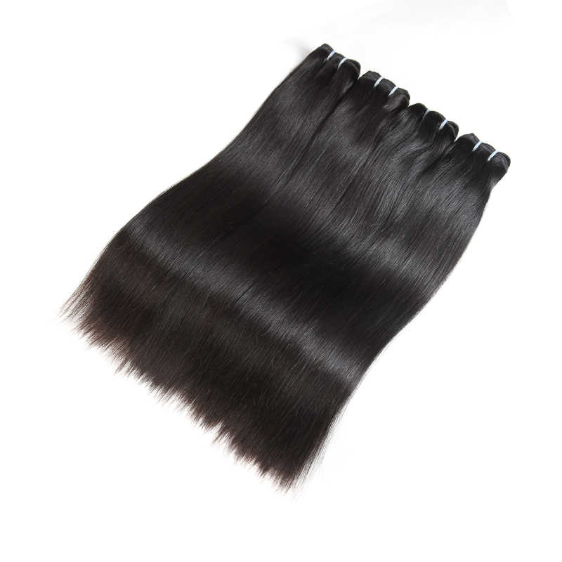 Ali rainha 10 pçs em linha reta brasileiro virgem extensão do cabelo humano não processado pacote tecer loira 613/natural preto/1b 613 cor