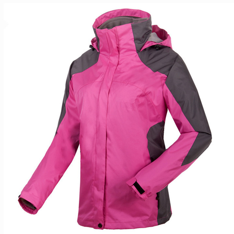 3 in 1 Outdoor Jacket Windproof Waterproof Coat Women Sport Jackets Hiking Camping Winter Thermal Fleece Jacket Ski Clothing 2017 new brand outdoor softshell jacket men hiking jacket winter coat waterproof windproof thermal jacket for hiking camping ski