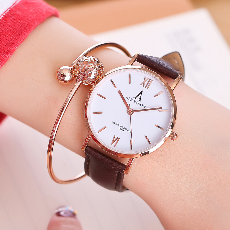 ALK lady watches 2018 luxury women ladies watch bracelet rose gold female dress wrist watch brand quartz wristwatch dropshipping duoya fashion luxury women gold watches casual bracelet wristwatch fabric rhinestone strap quartz ladies wrist watch clock