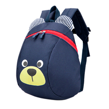 High Quality Cute Bear Small Toddler Backpack with Leash Children Kids Backpack Bag for Boy Girl embroidered detail backpack with bear charm 4pcs