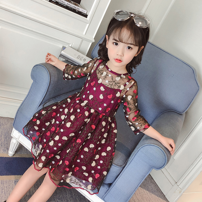 DKDGNY Girls dress spring 2018 new children in the Korean version of the summer girl dress fashion style princess dress free shipping factory direct sales good quality new spring summer 2016 korean version brand men straight jeans cheap wholesale