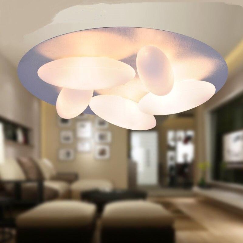 ФОТО A1 Towards the gate of modern minimalist creative European style cobblestone glass ceiling light living room restaurant rice