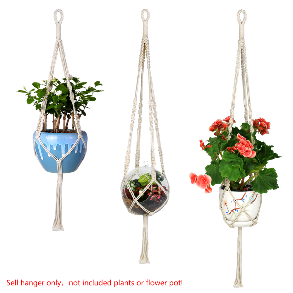 macrame rope home depot wituse 3x rope plant hanger macrame rope hanging pots 9206