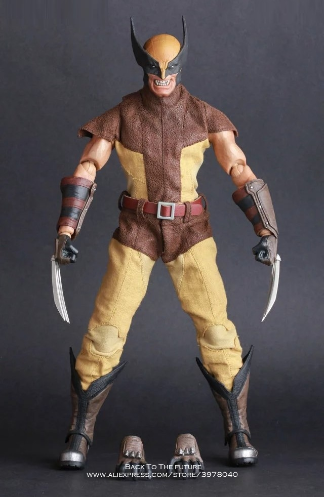 Disney Marvel X Men Origins Wolverine 30cm Action Figure Anime Mini Decoration Collection Figurine Toy model for children gift 7 marvel legends series x men wolverine claws logan action figure anime doll toy collectible model toys for children gift 18cm