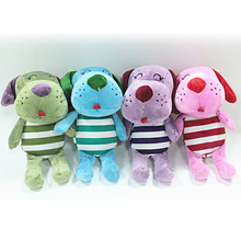 2016 Hot Sale 22cm PP Cotton Green/Pink/Blue/Purple Dog Doll peluche Animal Cute Plush Toys For Kids