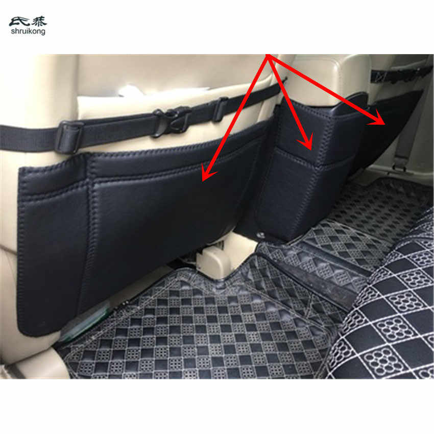 3pcs/lot PU leather car Seat and rear air conditioning outlet protection kick cover for 2008-2015 Nissan QASHQAI J10