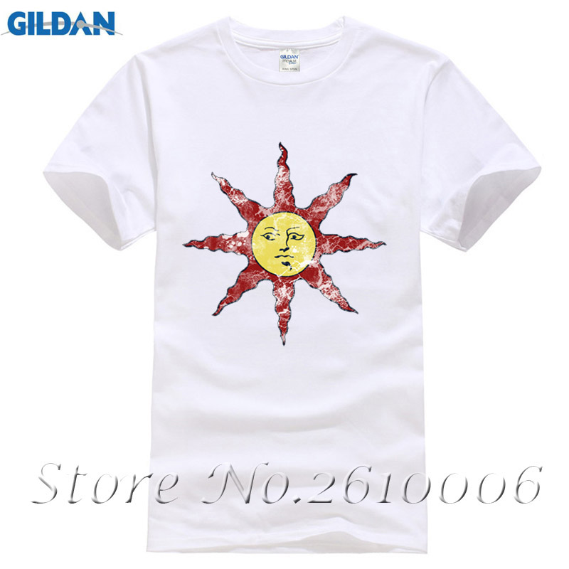 2017 Summer Newest Men Be A Sun Bro T-Shirt Dark Souls Covenant Warrior Of Sunlight Printed T Shirt 100% Cotton Unisex Tops Tees