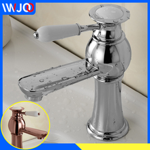 Modern Basin Faucets Brass Chrome Bathroom Faucet Deck Mount Basin Sink Faucet Single Handle Hole Cold and Hot Water Mixer Taps цены