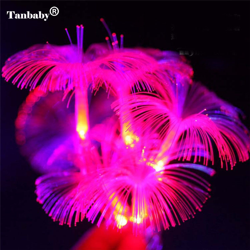 2.5M 10 LED Optic Fiber String Light Fairy Rope Lamp AA Battery Operated Ideal For Home Wedding Party Christmas Decor