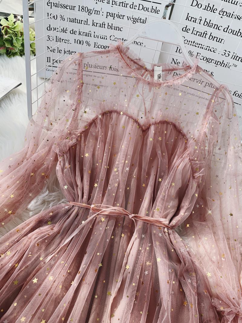 Gauze Two Piece Midi Dress 27