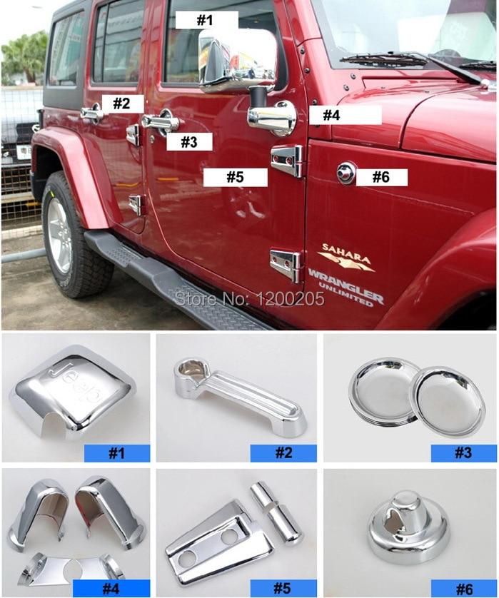 Quality Chrome Covers For Jeep Wrangler Chromed Ac...
