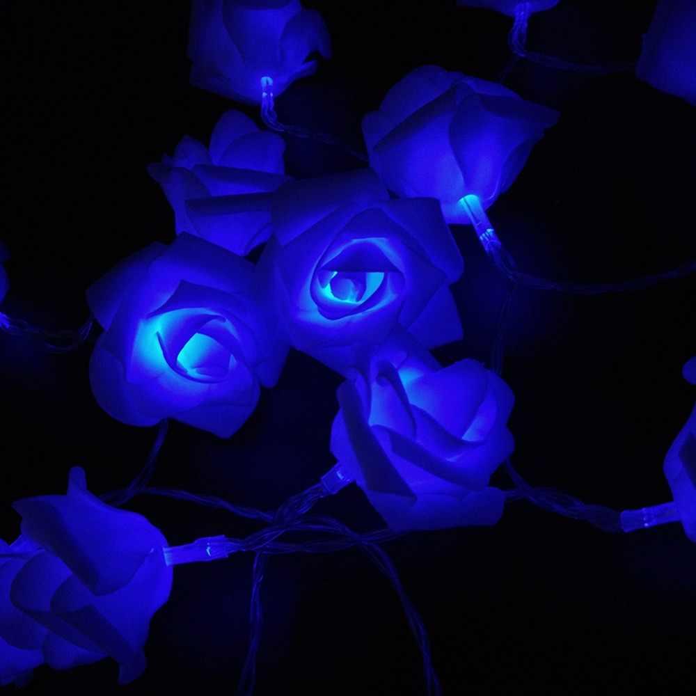 10 М 80 Розы Свадьба 9 Цветов СВЕТОДИОДОВ Строка Огни Украшения День святого валентина Праздник Огней Светильники 110 В 220 В Рождество