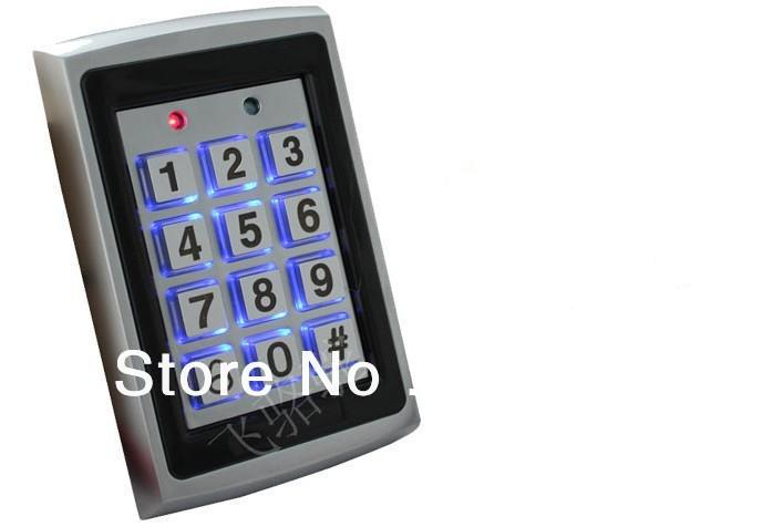 Metal RFID Reader 125kHz Proximity Door Access Control Keypad Support 1000 Users Electric Digital Password Door Lock lpsecurity 10 tags or 10 cards 125khz gate door lock rfid keypad proximity reader access controller wg26 input for slave reader