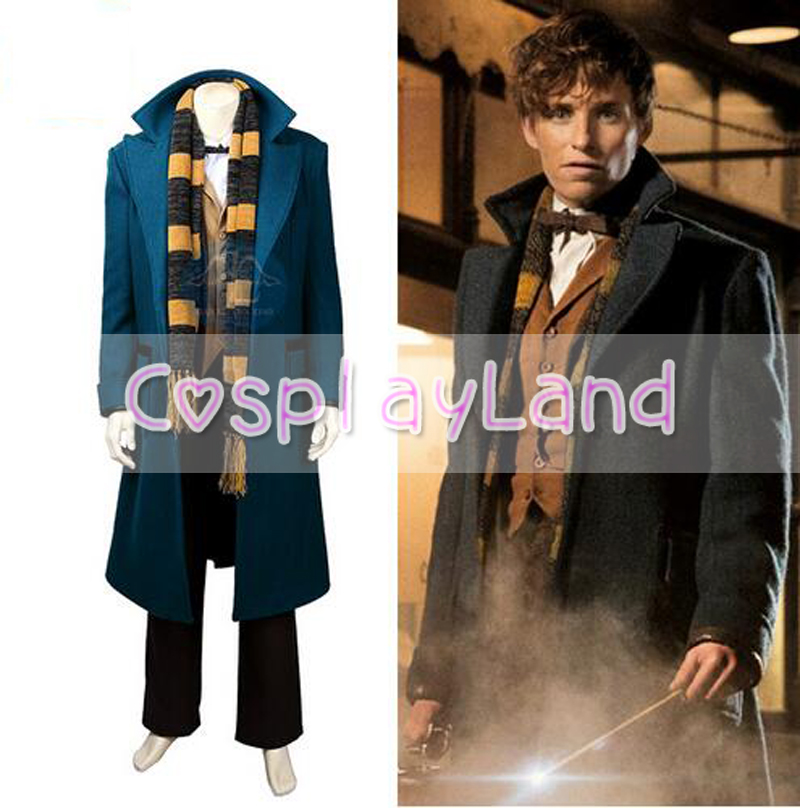Scamande Cosplay Costume Wizard Cosplay Halloween Costume Fantastic Beasts and Where to Find Them Cosplay Costume Custom Made