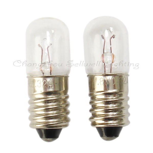 4.8v 0.3a E10x28 Miniature Lamp Light Bulb Free Shipping A157