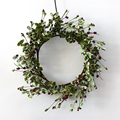 Autumn Floral Wreath Fall Diy Leaves Decoration for Home Indoor Wreath Artificial Leaf Flower with Berry Decoration