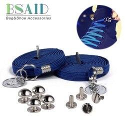 BSAID Kind Keine Krawatte Schnürsenkel Für Kinder Casual Schuhe Junge Mädchen Mode Schnürsenkel Mit Metall Kreis Decor Faul Sneaker Schuh schnürsenkel