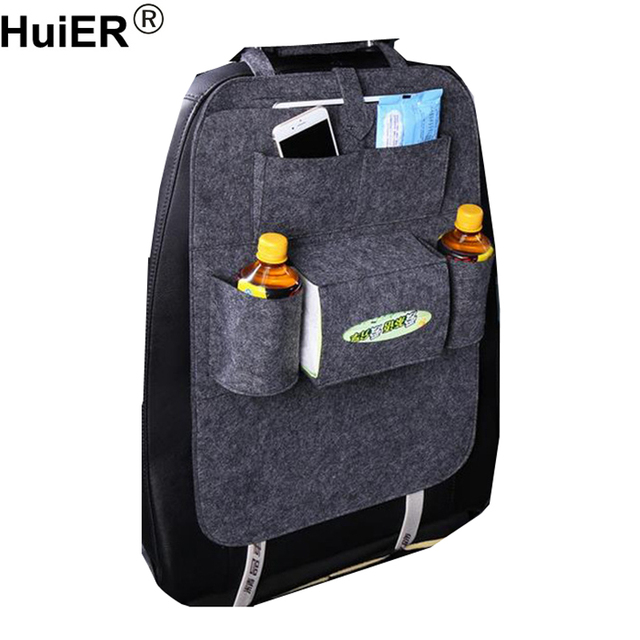 HuiER 1PC Car-styling Car Seat Cover Auto Car Back Seat Boot Organizer Multi-Pocket Storage Container Stowing Tidying Seat Cover