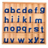 Montessori Wooden Moveable Alphabet Language Learning Writing Kits Early Educational Toys Puzzles Gift For 3~6 Year Old Kids