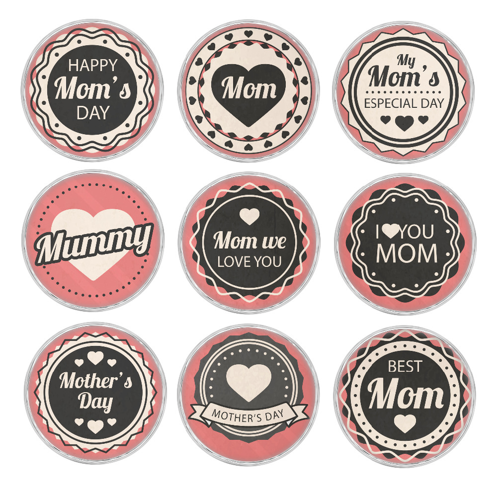 10pcs/Lot Best Mom Pattern Glass Snap Button Charms Handmade Glass Snap fit 18mm Ginger Snap Button Bracelet Bangle Jewelry image