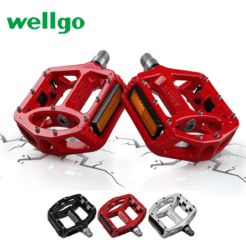 Super Light Quality agnesium Bicycle Pedal Antiskid for Road Mountain Bike Pedals Bicycle Parts New Arrival 2017 Wellgo MG-1 wellgo aluminum mountain bike pedals double du bearing mtb bicycle pedals 112 9 111 3 21mm anodizing coloration cycling parts