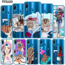 Moda dziewczyny dla Funda Huawei P30 Lite P20 Pro P30 Lite p8 Lite p9 Lite 2017 P inteligentny Capa miękki futerał silikonowy Etui tanie tanio TWBABD Pół-owinięte Przypadku Anti-knock Odporna na brud Wzorzyste cute For Huawei Soft TPU Back Cover High Quality A++++