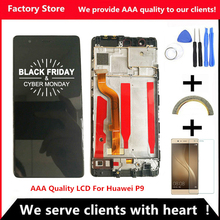 5.2 Inch AAA Quality LCD +Frame For HUAWEI P9 Lcd Display Screen For HUAWEI P9 EVA L09 EVA L19 Digiziter Assembly