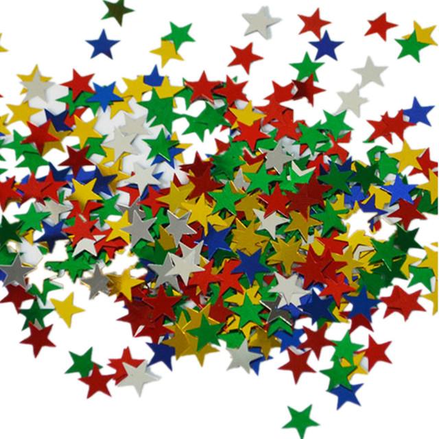 Metallic Star Shaped Confetti 3000 pcs Set