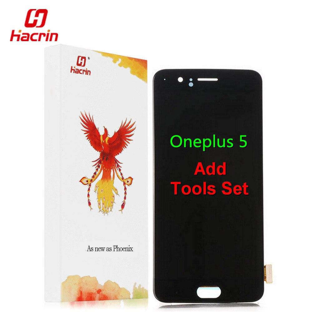 Oneplus 5 display LCD + Touch Screen Substituição Assembleia Digitador Premium para Um Mais Cinco 5.5 polegada 6 GB 8 GB de RAM