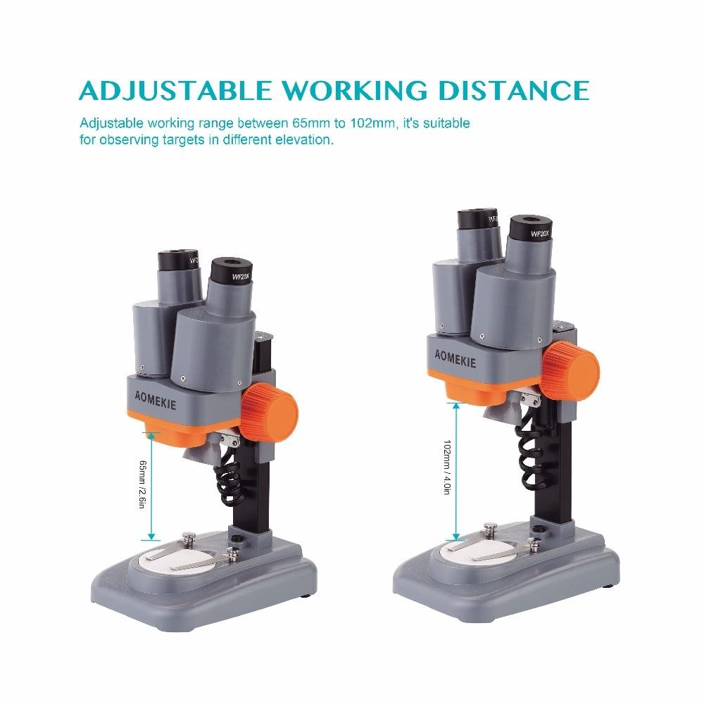 AOMEKIE 40X Verrekijker Stereo Microscoop Top LED PCB Soldeersel - Meetinstrumenten - Foto 6
